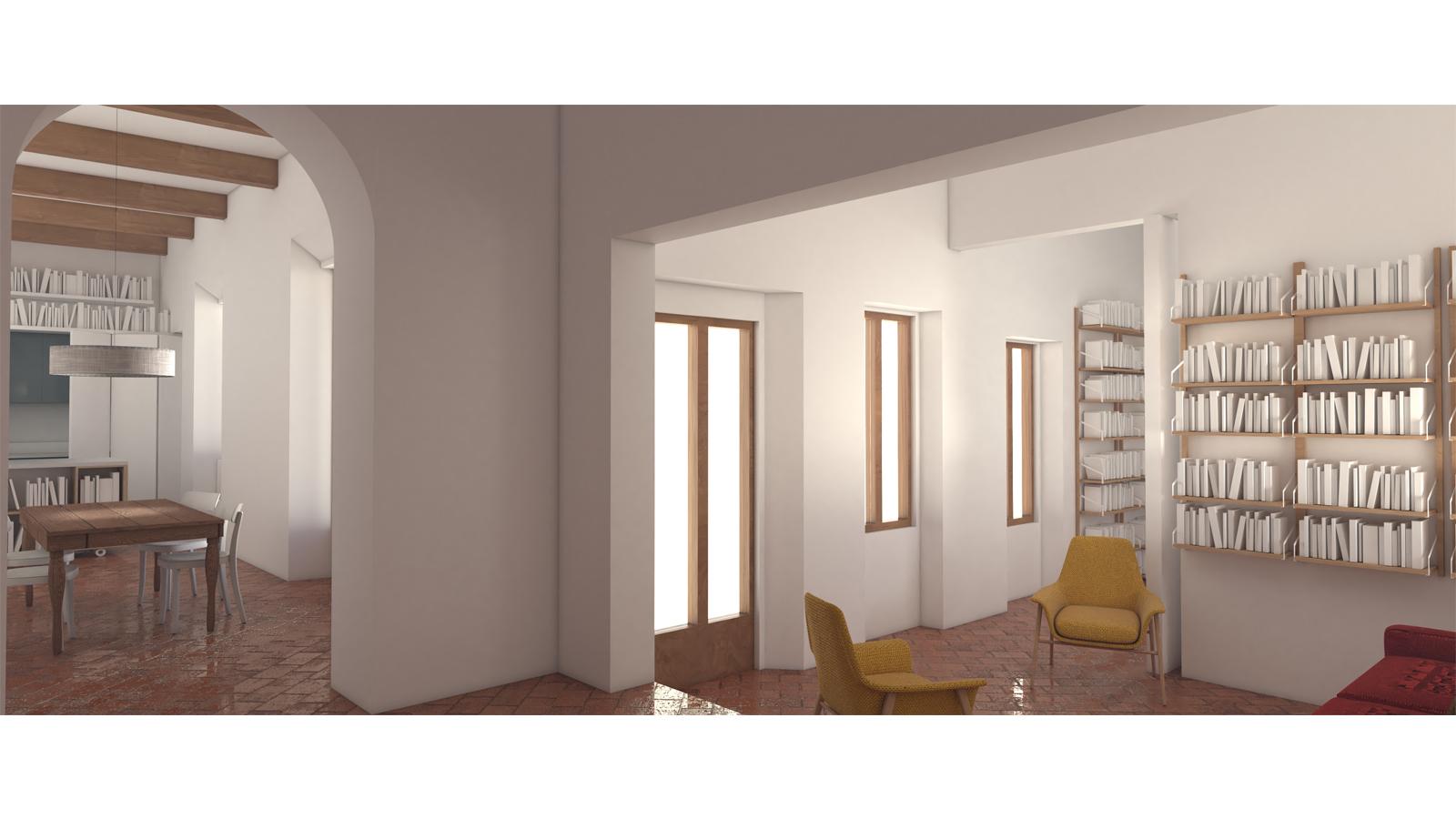 Ristrutturazione di un appartamento a fiesole fw for Metraggio di appartamento studio